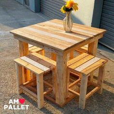 30 Creative DIY Wooden Pallet Projects Ideas The post 30 Creative DIY Wooden Pallet Projects Ideas appeared first on Pallet Diy. Wood Pallet Tables, Pallet Patio Furniture, Furniture Projects, Wood Pallets, Wooden Furniture, Pallet Bar, Antique Furniture, Cheap Furniture, Furniture Design