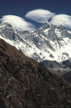 Mount Everest and Mount Lhotse, Nepal.