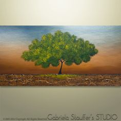 Abstract Painting Tree Painting textured Painting by Catalin