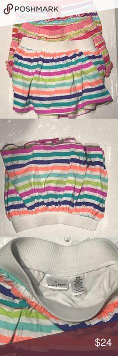 Bundle Multi Pink Purple Striped Shorts & Skort Jumping Bean 24m Striped Skort, Gymboree 2T striped bow shorts, Gymboree 18-24 Striped ruffle trim shorts Gymboree Bottoms Shorts