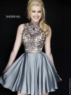 Stunning Beaded Sherri Hill Short Dress 1965