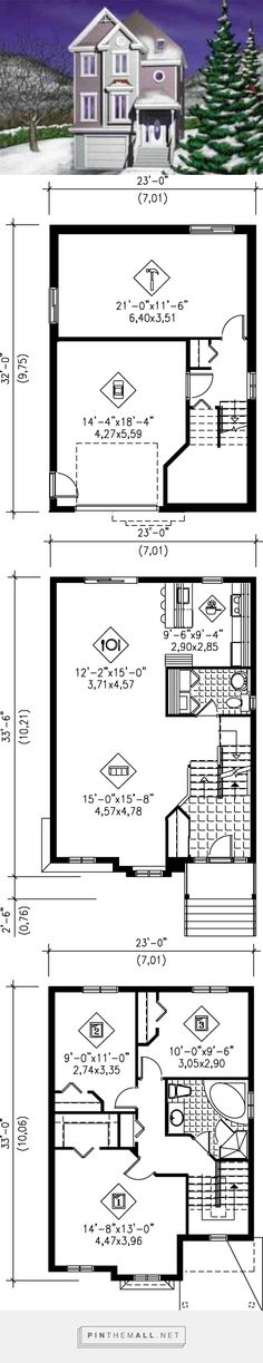 Victorian Style House Plan - 3 Beds 1.5 Baths 1927 Sq/Ft Plan #25-2030 - created via http://pinthemall.net