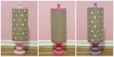 Burlap Headband Holder and Storage Container by SCTatteredPetals