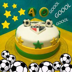 Bolo Copa + Time Bakery Cakes, Birthday Cake, Cupcakes, Desserts, Theme Cakes, World Cup, Everything, Brazil, Tailgate Desserts