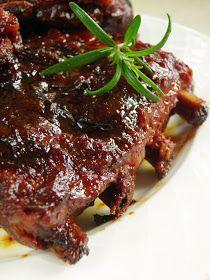 sio-smutki! Monika od kuchni: Pieczone żeberka z powidłami Steak, Pork, Recipes, Kale Stir Fry, Recipies, Steaks, Ripped Recipes, Pork Chops, Cooking Recipes