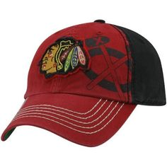 NHL  47 Brand Chicago Blackhawks Webster Franchise Fitted Hat - Red Black  by Twins 7747a027c24