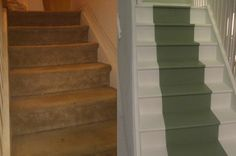 Refurbished the stairs from crappy carpet to . . . Well, this
