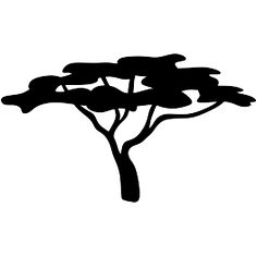 Safari Tree Silhouette Clip Art