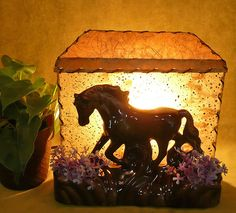 Prancing Horse Vintage TV Lamp