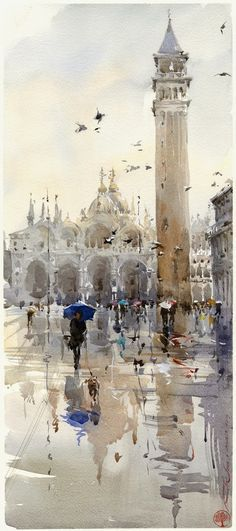 Igor Sava - Venice - beautiful watercolour painting inspiration