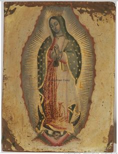 Artstor Virgin of Guadalupe Attributed to Miguel Cabrera c. 1740