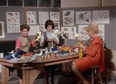 "the-disney-elite: "" Imagineers create animatronic magic for Walt Disney's Enchanted Tiki Room. Pic left to right: Harriet Burns, Leota Toombs and Glendra Von Kessel "" Disney Movies, Disney Stuff, Walt Disney Imagineering, Mickey Mouse Club, Vintage Disneyland, Tiki Room, Career Goals, Disney Cruise, Magic Kingdom"