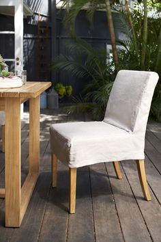 Eco Outdoor Amos dining chair in Outdoor Linen. Available in 5 colours. Outdoor furniture | livelifeoutdoors | Patio furniture | Outdoor dining | Teak outdoor | Outdoor design | Outdoor style | Outdoor luxury | Designer outdoor furniture | Outdoor design inspiration | Pool side furniture | Outdoor ideas | Luxury homes | LINEN