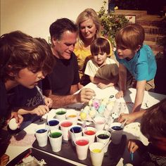 Mitt and I had a lot of fun dyeing Easter eggs with the grandkids this weekend.