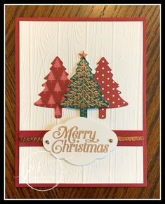 Stampin' Up! Perfectly Plaid Bundle, Wrapped in Plaid DSP, Pine Tree Punch, Stampin' Studio Christmas Cards 2018, Homemade Christmas Cards, Xmas Cards, Homemade Cards, Holiday Cards, Christmas Crafts, Stampin Up Christmas, Christmas Tag, Stampin Up Weihnachten
