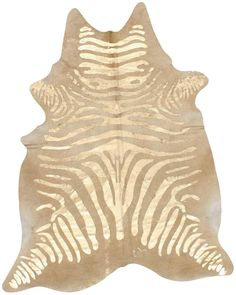 Bold Zebra Cowhide Area Rug in Natural design by NuLoom