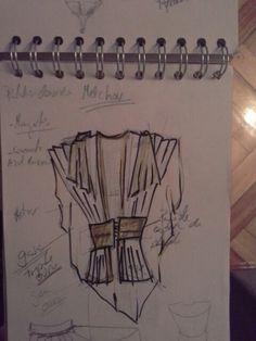Estudio para vestiario paxe Rei Melchor. Cabalgata Reis cidade de Ourense. 2015