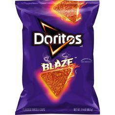 Doritos Blaze Flavored Tortilla Chips Bag, Ounce for sale online Doritos, Pancake Art, Homemade Tortilla Chips, Chip Bags, Snacks For Work, Iced Tea, Food Dishes, Snack Recipes, Food Porn