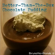 Better-than-the-box chocolate pudding recipe