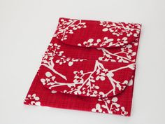 Snowy Winter Branches Red Gift Card Holder by joliefemmebydiana