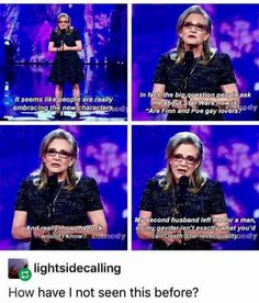 Gaydar | Star Wars | Carrie Fisher | memes | funny Tumblr post