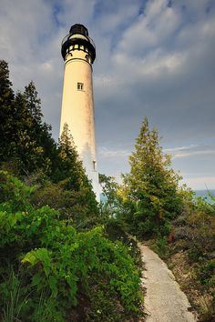 """newclearfusion:  """"Lightkeepers Path"""" South Manitou Island Lighthouse Sleeping Bear Dunes National Lakeshore by Michigan Nut on Flickr."""