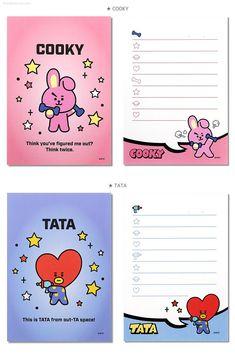 Checklist Notepad / BTS Notepads / K-POP / Notepad / Scrapbooking / School Supplies / Koya, Chi Bts School, Kpop Diy, Bts Book, School Scrapbook, Bts Merch, Bts Drawings, Bts Chibi, Note Paper, Paper Toys