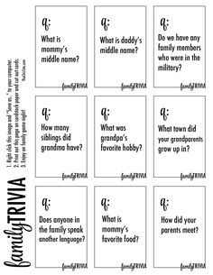 Small group trivia game