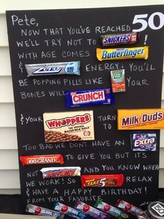 ideas birthday gifts for brother ideas candy bars Birthday Candy Posters, Candy Bar Posters, Candy Cards For Birthday, Valentines Gifts For Boyfriend, Boyfriend Gifts, Funny Boyfriend, Candy Bar Cards, Card Candy, 60th Birthday Party