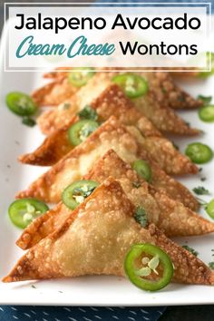 Wonton Appetizers, Wonton Recipes, Yummy Appetizers, Appetizers For Party, Mexican Food Recipes, Italian Appetizers, Easy Food For Party, Easy Canapes, Tailgate Appetizers