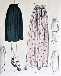 1940s EASY To Make Skirt Pattern VOGUE 5280 Day or Evening Length, Soft Pleats or Gathers Very Pretty Skirt Waist 30 Vintage Sewing Pattern FACTORY FOLDED