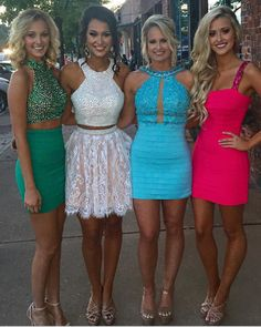 Sexy Two Piece Homecoming Dresses/Prom Dresses, Cheap Homecoming Dresses, High Quality Homecoming Dresses, Homecoming Dresses with Pearls