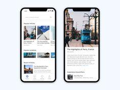 Android Design, Mobile Ui Design, App Ui Design, User Interface Design, Layout Design, Blog Website Design, Website Ideas, Blog Websites, Business Cards Layout