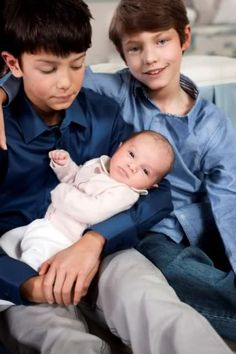 Princes Nikolai and Felix and Princess Athena of Denmark