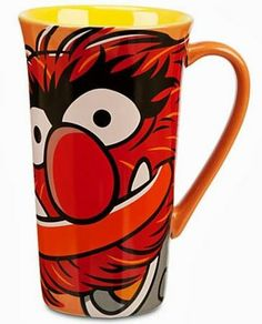 From The Muppets Most Wanted movie, comes this handsome Animal mug. If you love Animal or even if you are an animal (LOL), you will love drinking your coffee out of this mug!  #coffeemug #themuppets