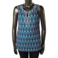 INC Womens Embellished Sleeveless Blouse