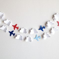 Make paper cloud and and instead of airplanes how about birds?