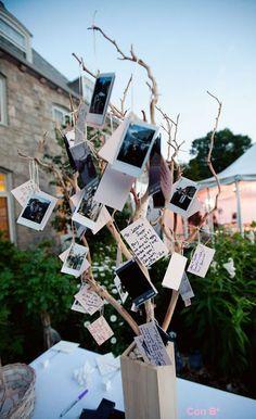 Centro de mesa para boda con notas de tus invitados