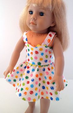 Polka Dot Sundress for American Girl Doll. $14.00, via Etsy.