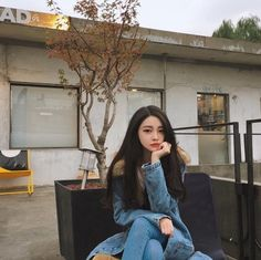 asian, korean model, and asian fashion image