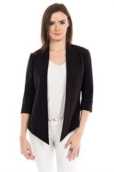 İRONİ SIRTI LAZER KESİM SİYAH CEKET Blazer, Jackets, Fashion, Down Jackets, Moda, Fashion Styles, Blazers, Fashion Illustrations, Jacket