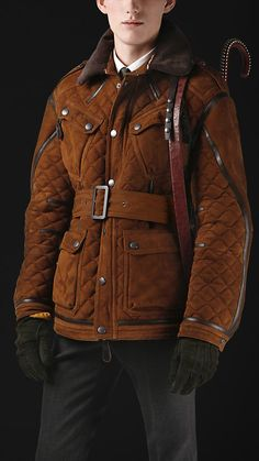 Blanket Quilted Shearling Coat $5749