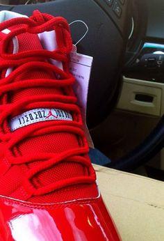 """Air Jordan 11 """"All-Red"""" Sample"""