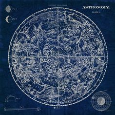 Celestial Blueprint by Sue Schlabach - canvas print