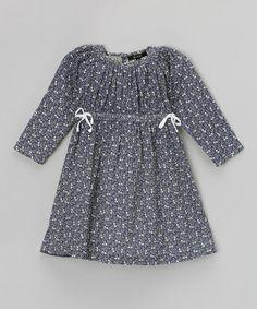 Look at this #zulilyfind! Indigo Modern Floral Babydoll Dress - Toddler & Girls by GIL & JAS #zulilyfinds