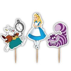 Alice in Wonderland Cupcake Toppers by PinkChicInvitations on Etsy, $11.99 Alice In Wonderland Cupcakes, 5th Birthday, Cupcake Toppers, Unique Jewelry, Handmade Gifts, Ava, Vintage, Etsy, Parties