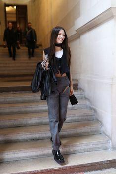 """""""bella hadid at paris fashion week. Bella Hadid Outfits, Bella Hadid Style, High Fashion Models, Fashion Show, Fashion Outfits, Vivienne Westwood, Fashion Killa, Runway Fashion, Paris Fashion"""