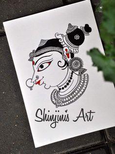 Kerala Mural Painting, Madhubani Painting, Indian Traditional Paintings, Indian Paintings, Indian Drawing, Kalamkari Painting, Madhubani Art, Indian Folk Art, India Art