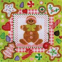 C905 gingerbread man needlepoint