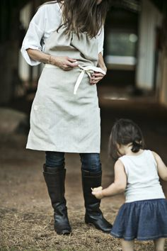 heirloomed halter apron @IceMilkAprons @Christina Childress Childress Childress Loucks